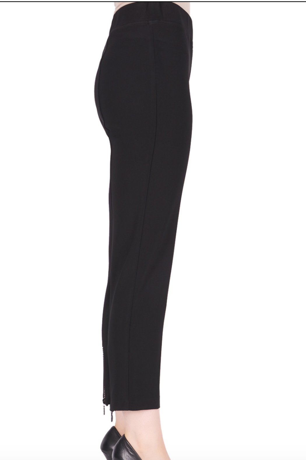 Joseph Ribkoff  Ankle Pant with Zipper at back of Ankle - Front Full Image