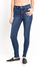just black Ankle Skinny Jean - Front cropped