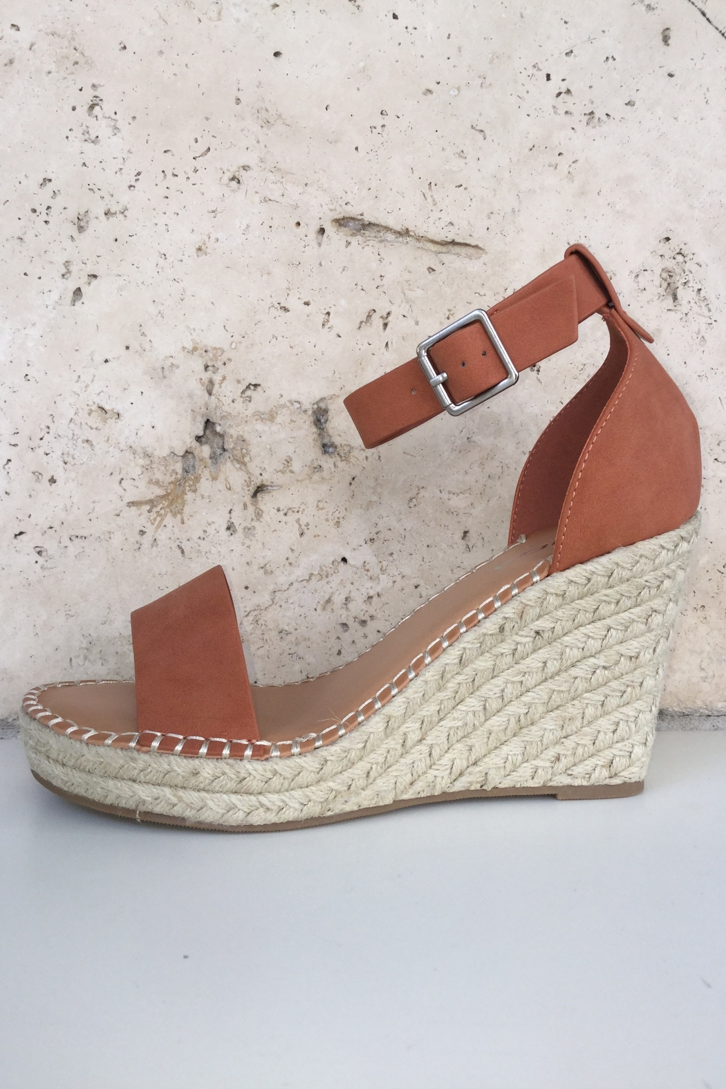 Soda Ankle Strap Wedge - Front Full Image
