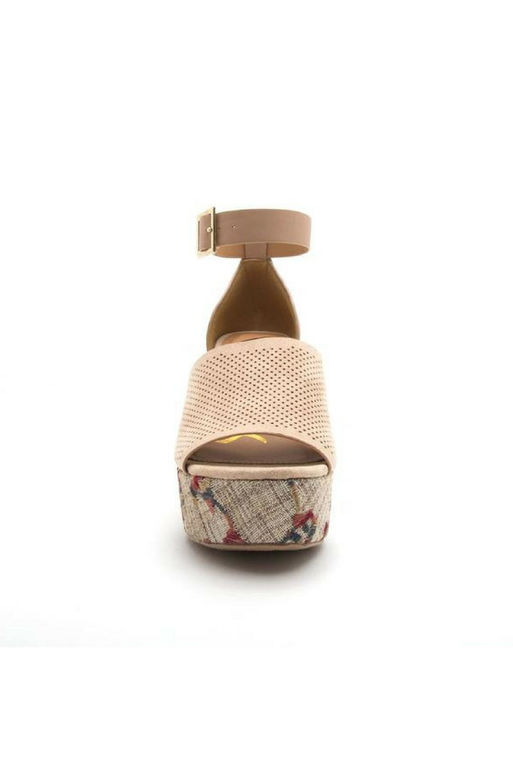 Qupid Ankle Strap Wedges - Front Full Image