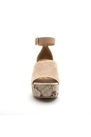 Qupid Ankle Strap Wedges - Front full body