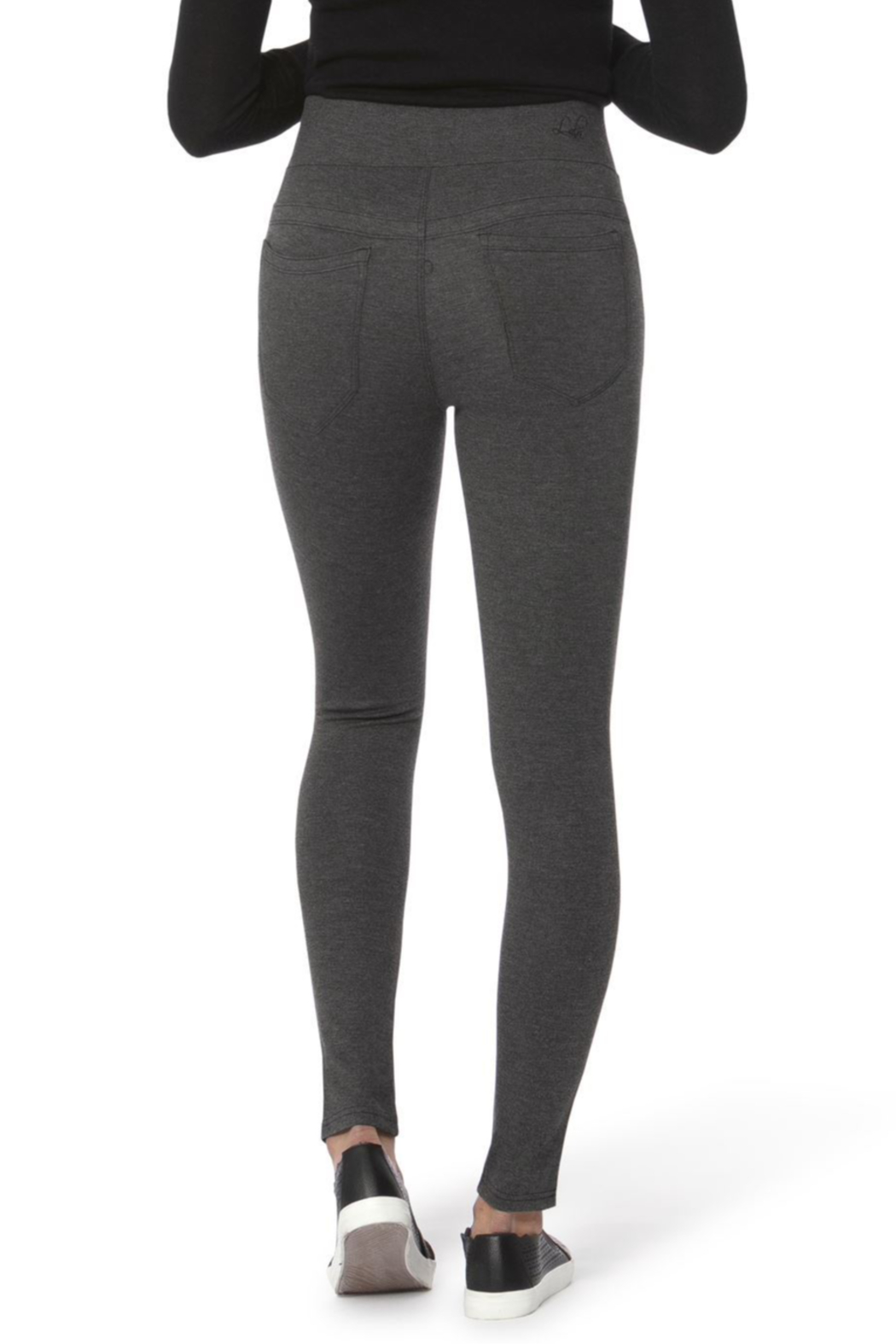 Lola Jeans Anna Mid Rise Pull on Skinny Pants - Side Cropped Image