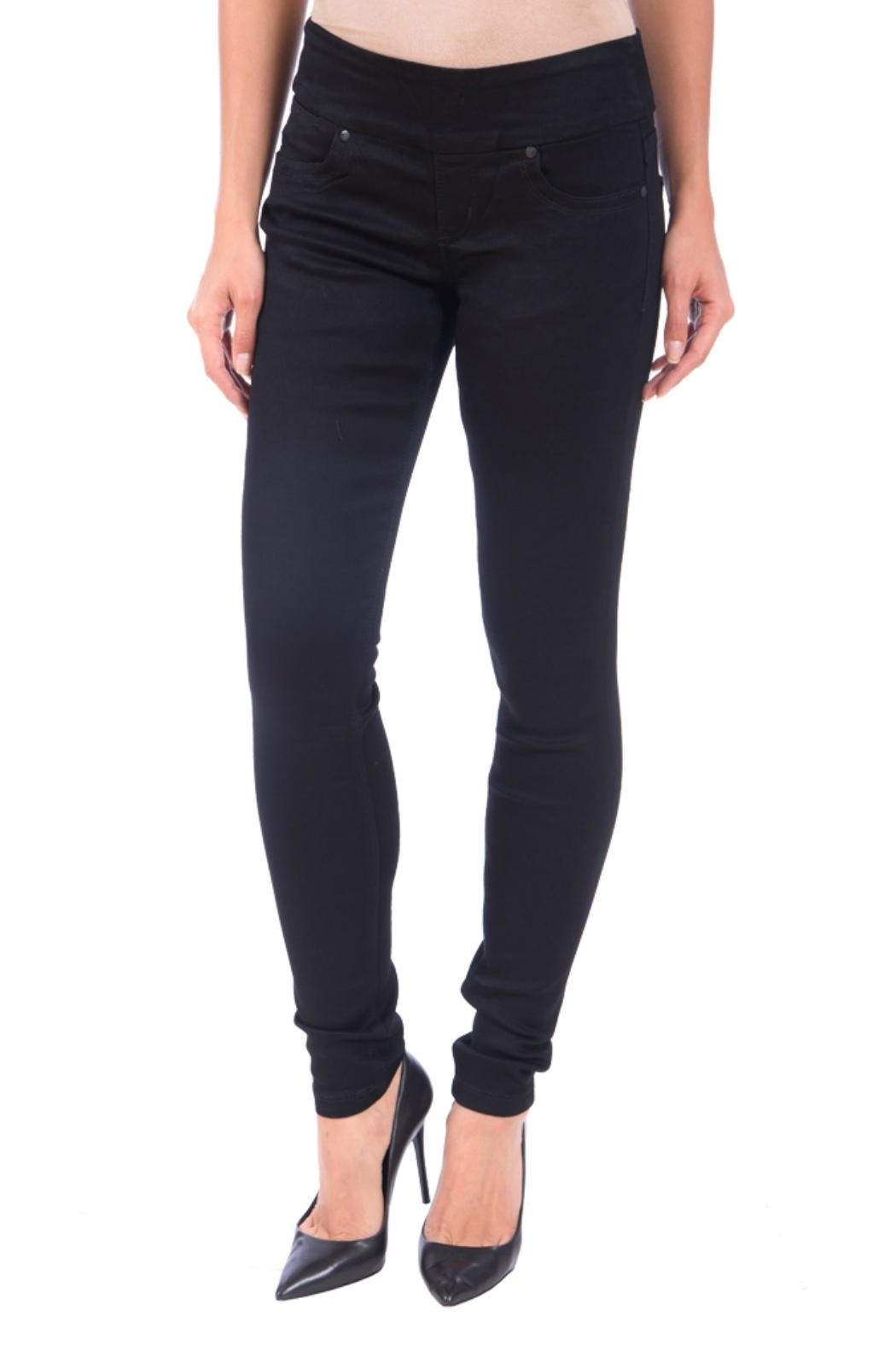 Lola Jeans Anna Pull on Denim Pant - Front Cropped Image