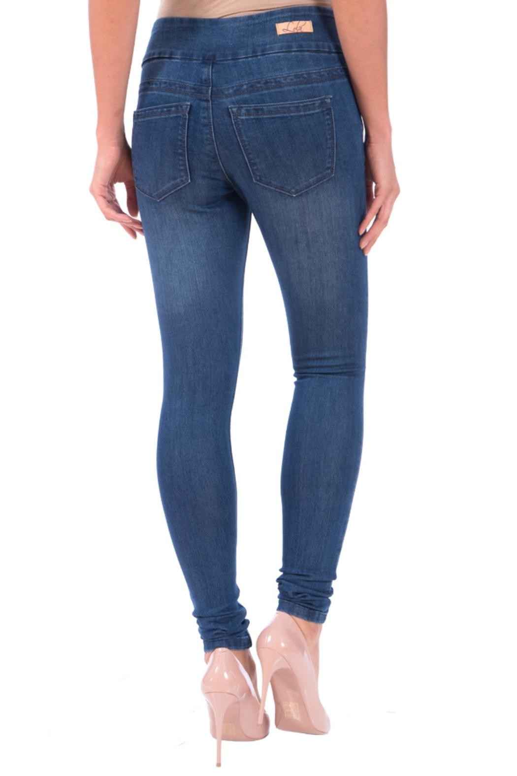 Lola Jeans Anna Pull on Denim Pant - Side Cropped Image