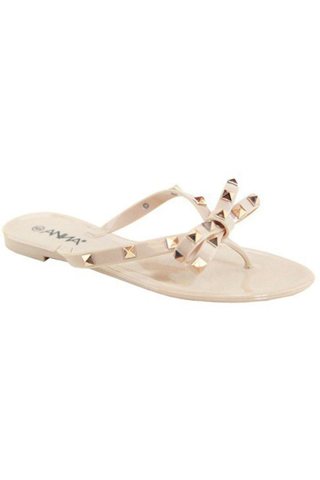 Anna Studded Bow Flip-Flop - Front Cropped Image