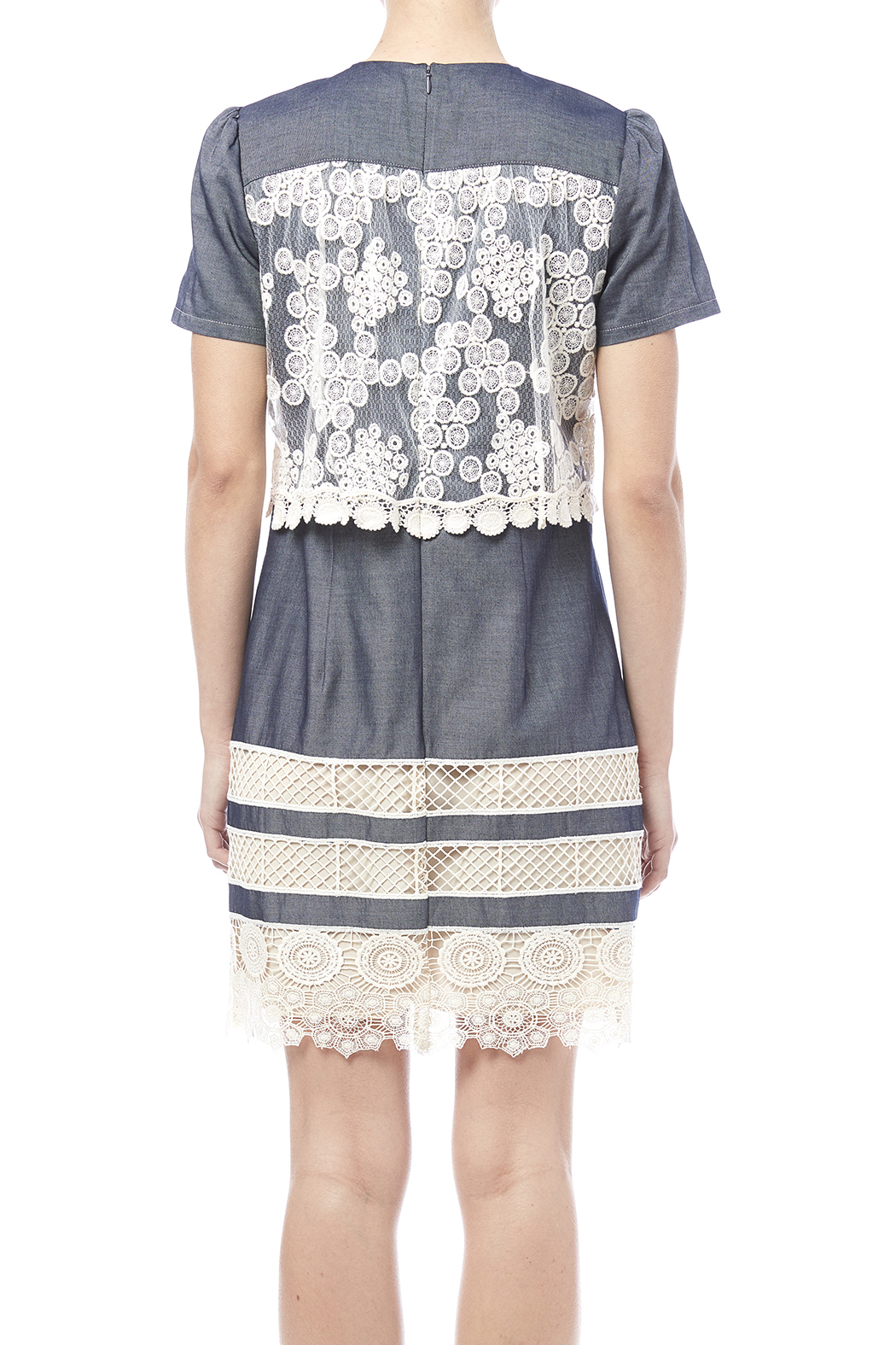 Anna sui chambray lace dress from manhattan shoptiques for Chambray dress