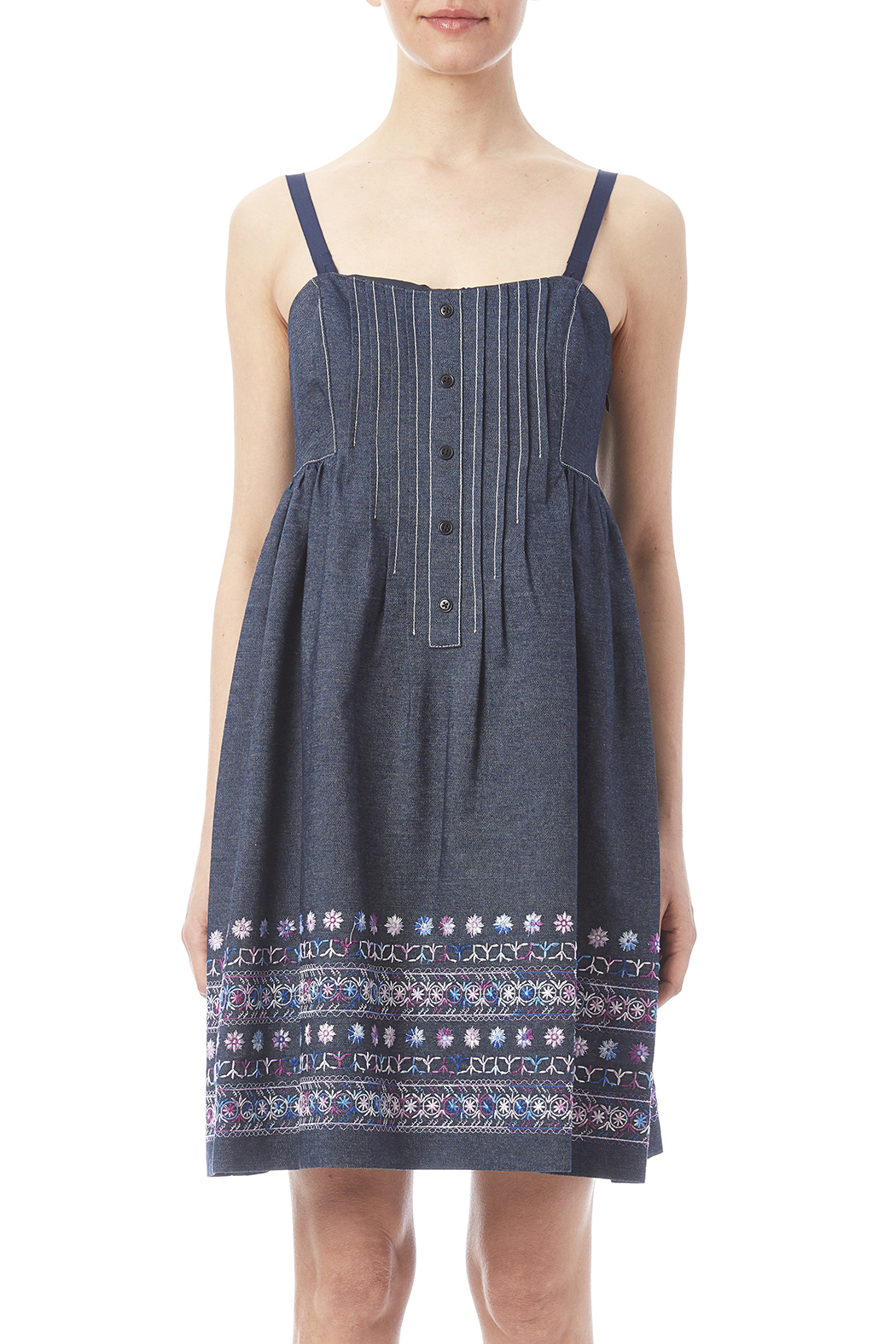Anna sui embroidered denim dress from manhattan — shoptiques