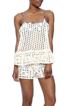 Shoptiques Product: Eyelet Tie-Back Top