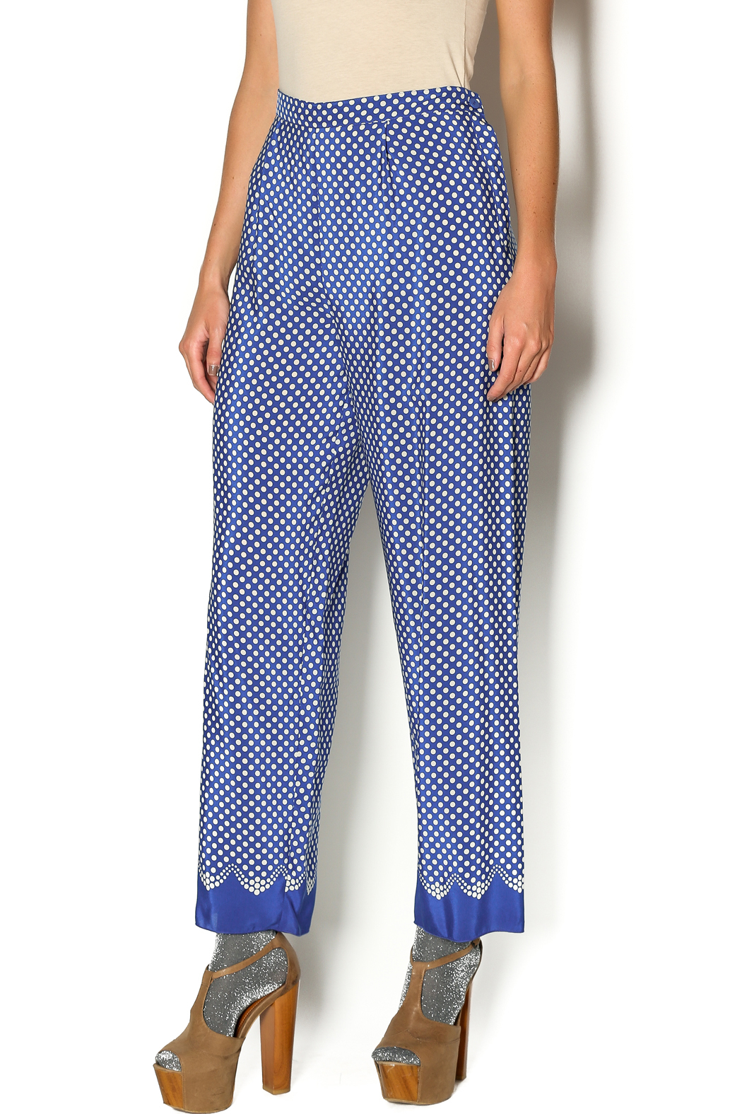 Anna Sui Aurora Polka Dot Pant - Front Cropped Image
