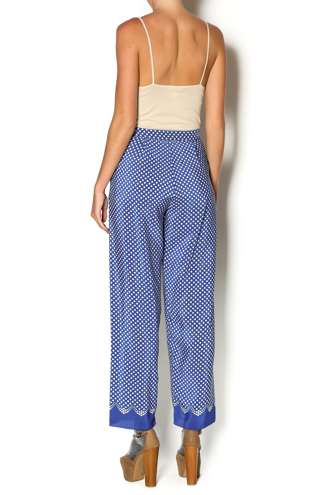 Anna Sui Aurora Polka Dot Pant - Side Cropped Image