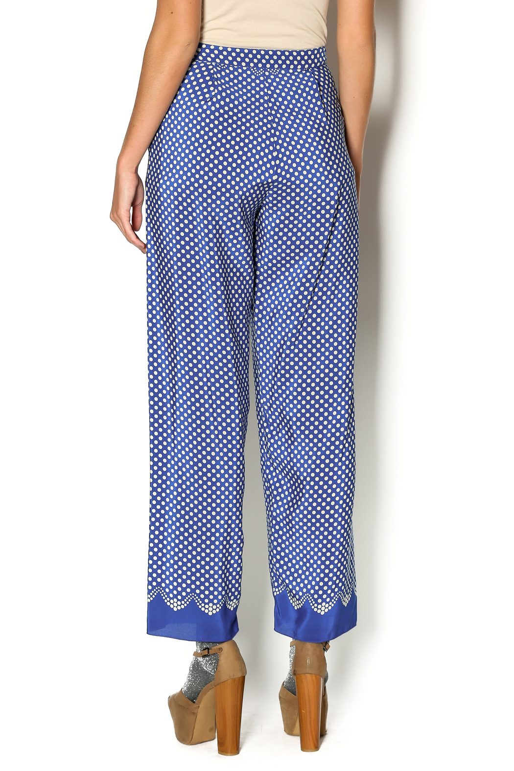 Anna Sui Aurora Polka Dot Pant - Back Cropped Image