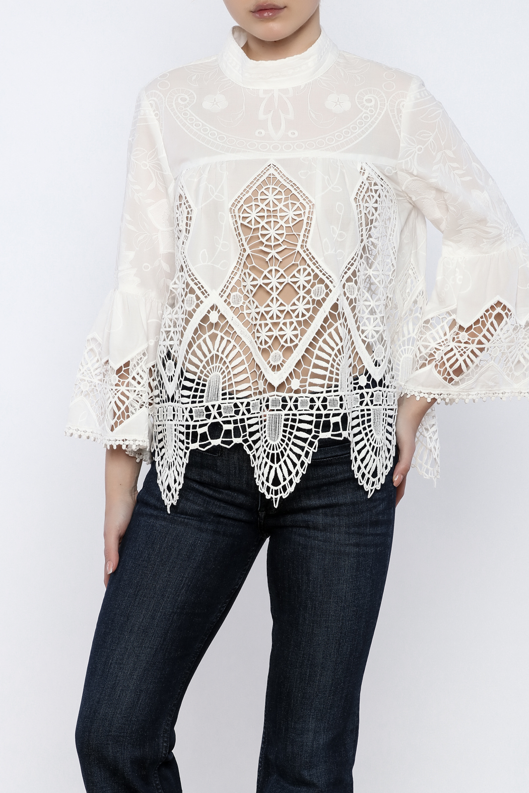 98c58aae736 Anna Sui Victorian Lace Top from Manhattan — Shoptiques