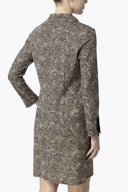 Jude Connally Anna Textured Camel/Cheetah Ponte Dress - Front full body