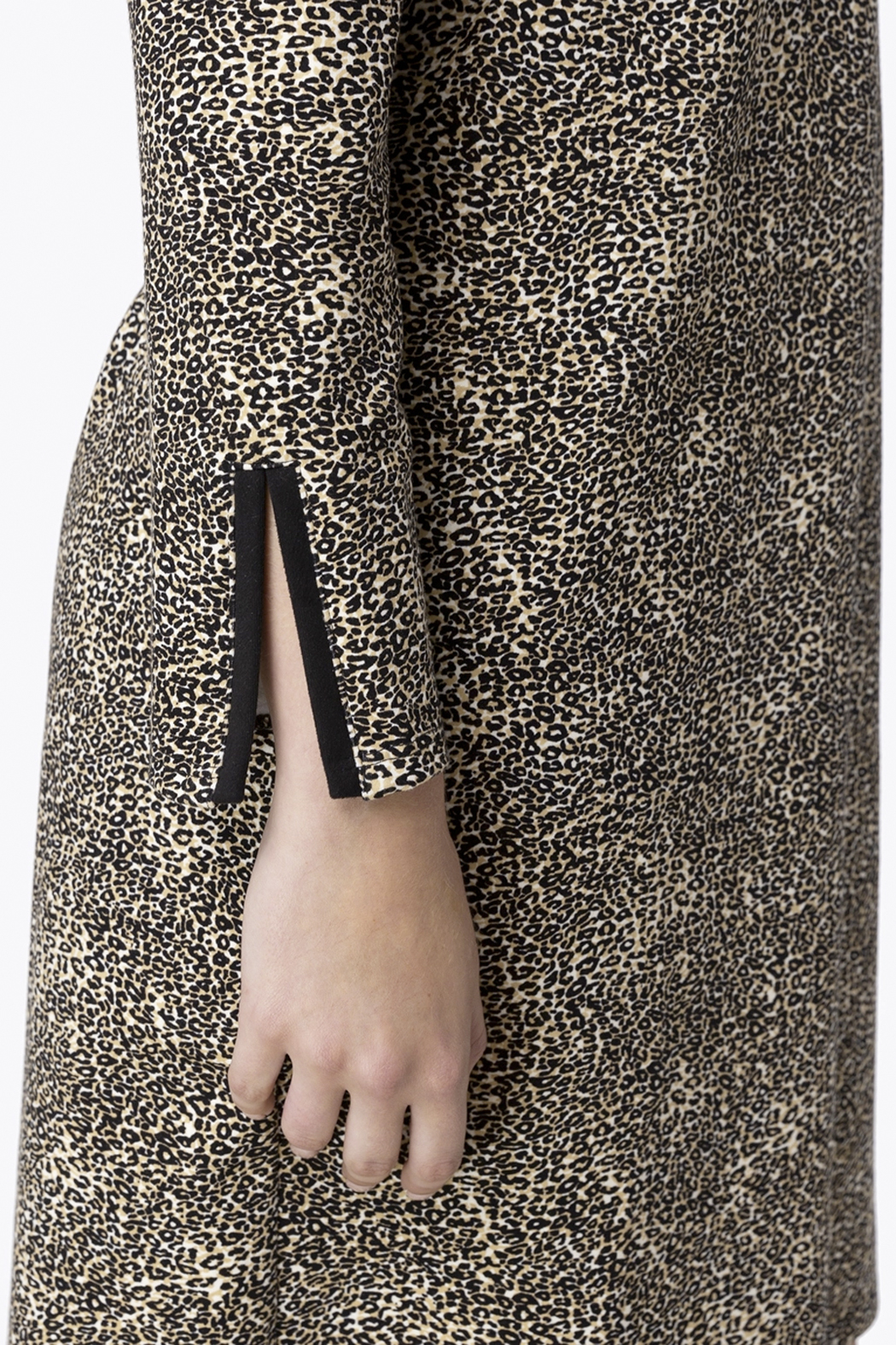 Jude Connally Anna Textured Camel/Cheetah Ponte Dress - Side Cropped Image