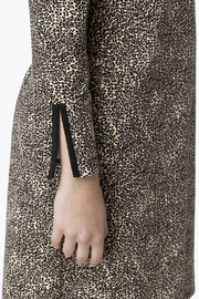 Jude Connally Anna Textured Camel/Cheetah Ponte Dress - Side cropped