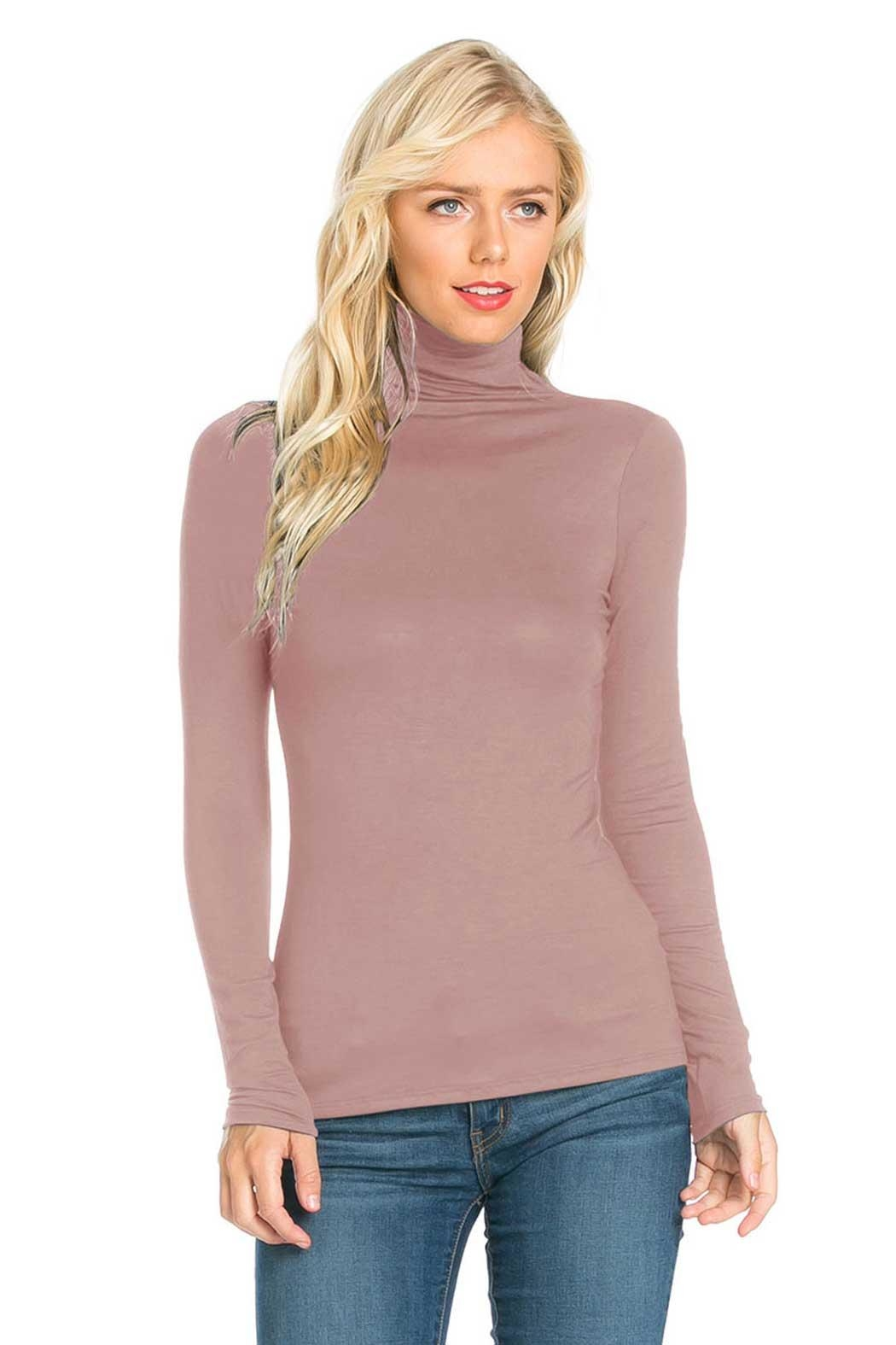 Fashion California Anna Turtleneck Top - Front Cropped Image