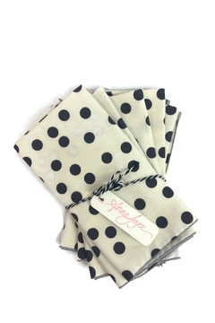 Shoptiques Product: Navy Dot Napkins