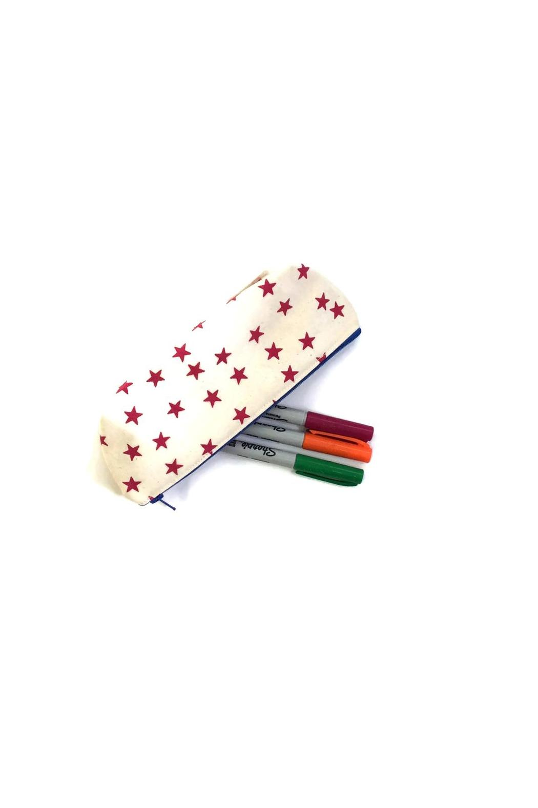 Anna Joyce Pink Star Pouch - Front Full Image