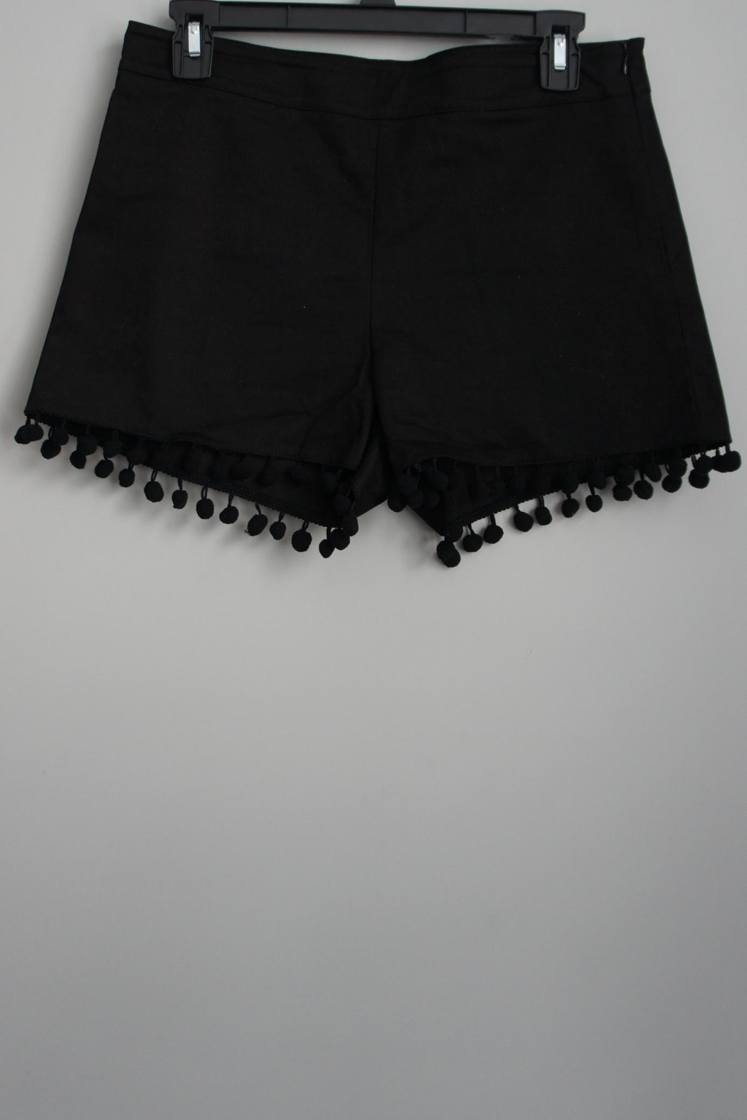 Anna Lane by MSC Collection Pompom Tailored Shorts - Side Cropped Image