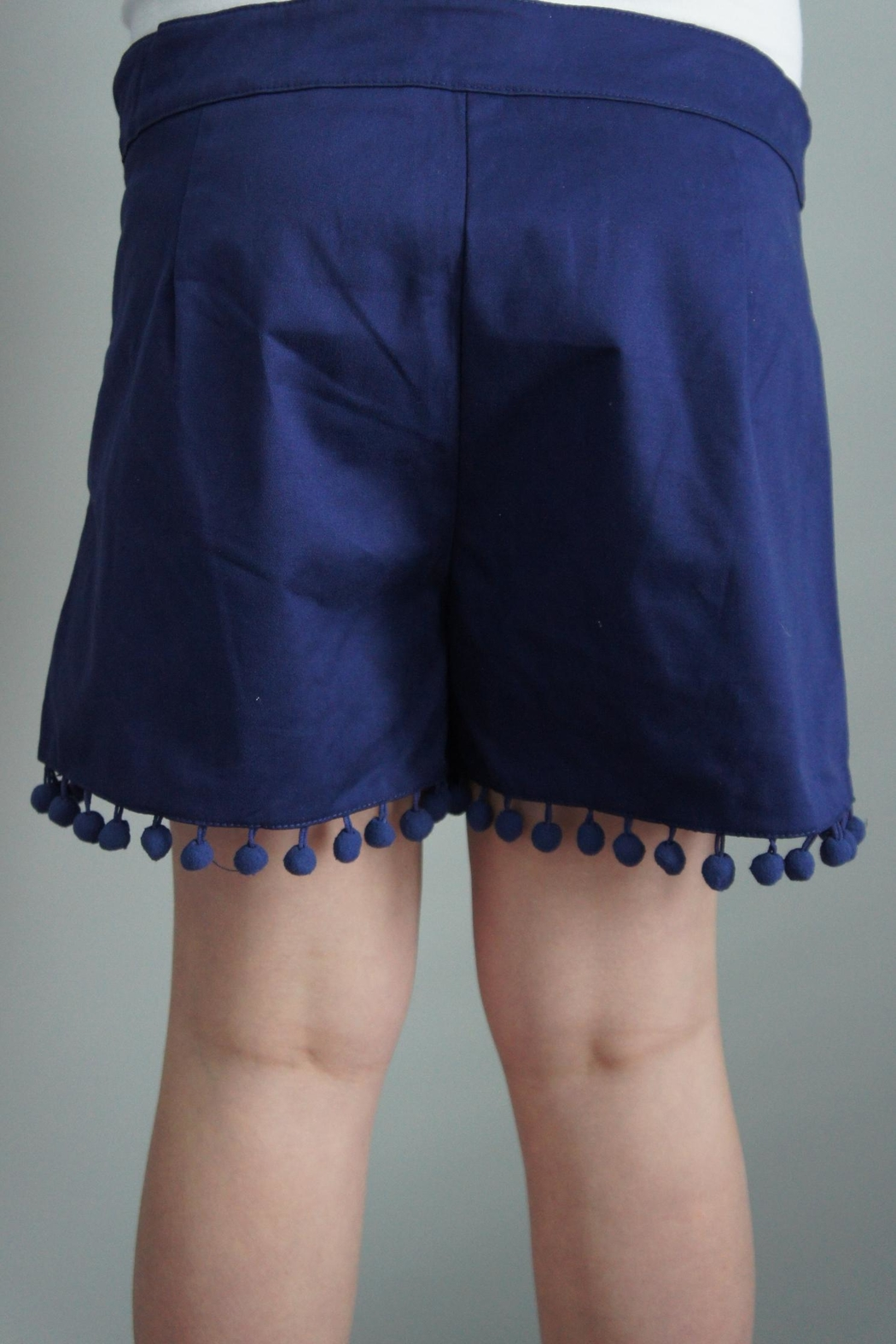 Anna Lane by MSC Collection Pompom Tailored Shorts - Front Cropped Image