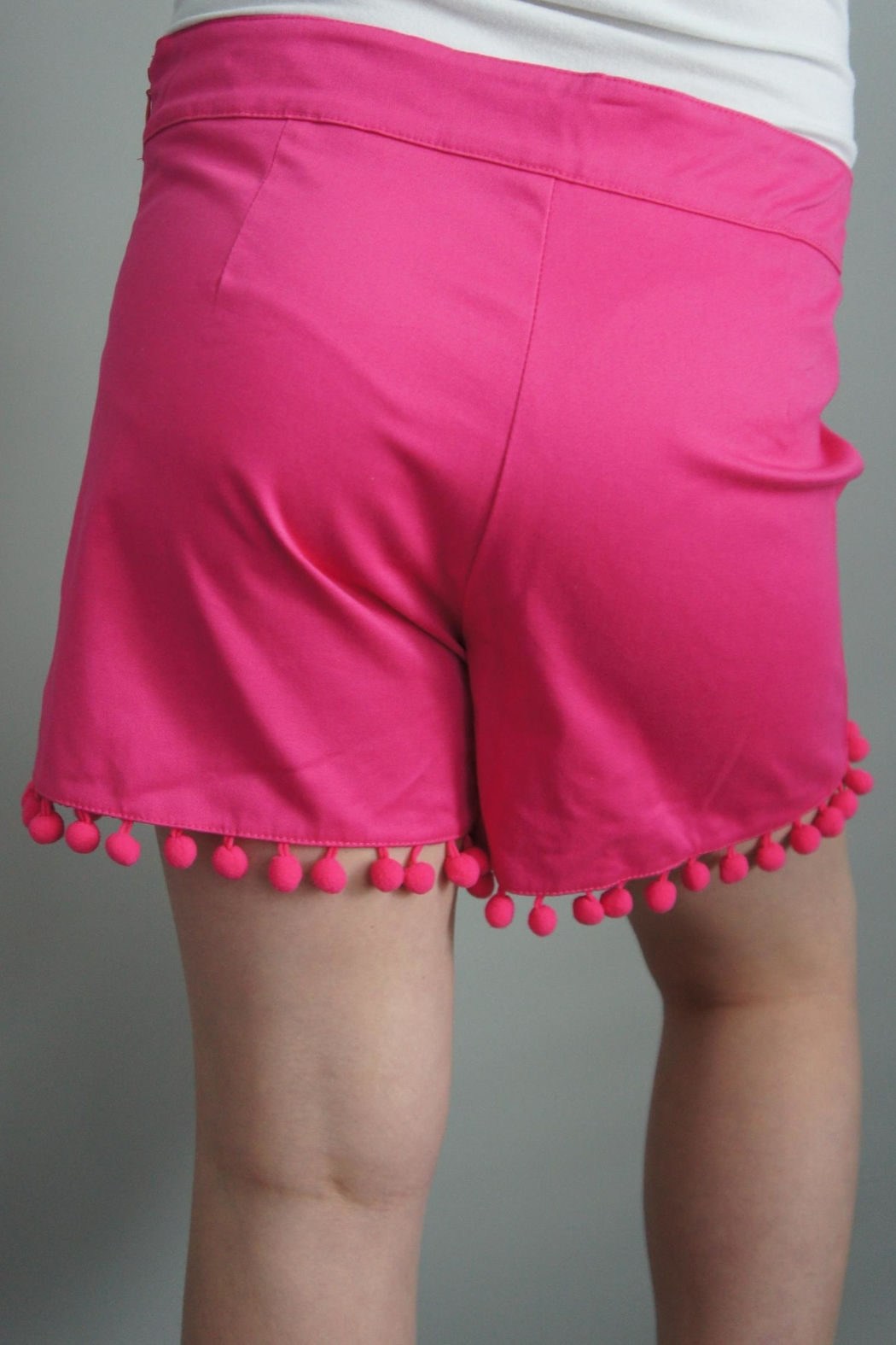 Anna Lane by MSC Collection Pompom Tailored Shorts - Main Image