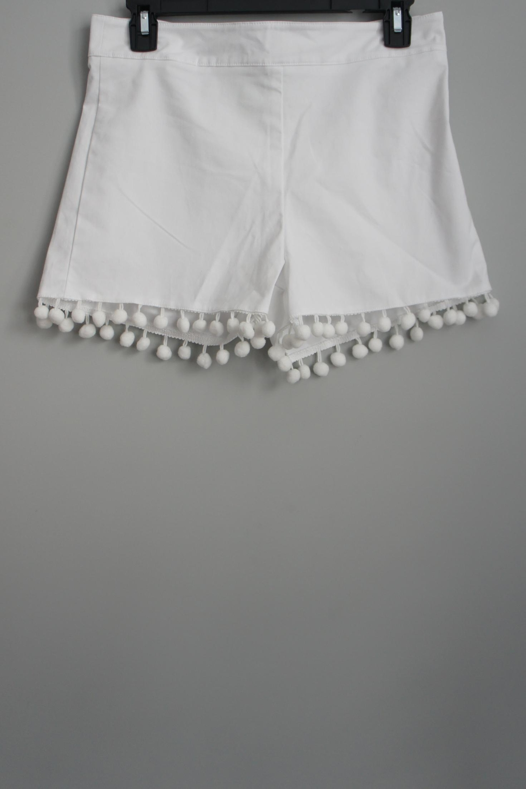 Anna Lane by MSC Collection Pompom Tailored Shorts - Front Full Image