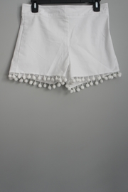 Anna Lane by MSC Collection Pompom Tailored Shorts - Front full body