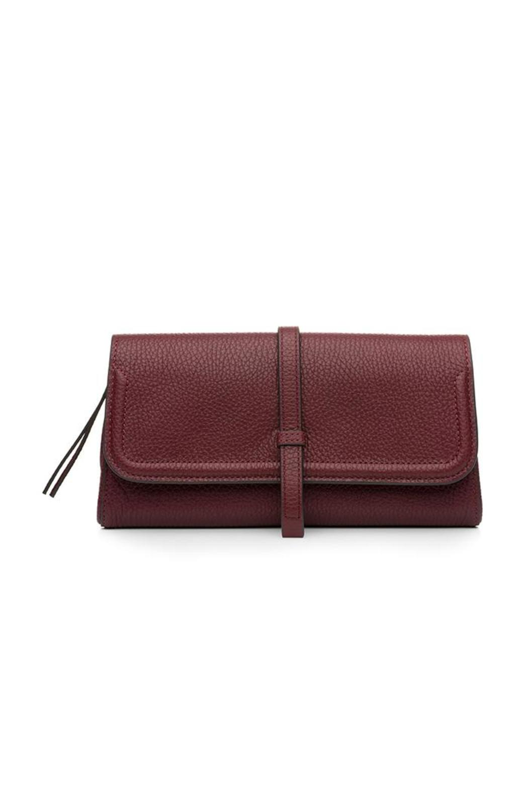 Annabel Ingall Burgundy Charlotte Clutch - Main Image
