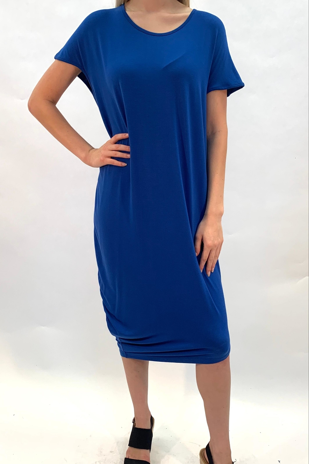 annabelle Blue Lounge Dress - Front Full Image