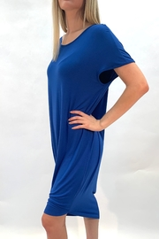 annabelle Blue Lounge Dress - Front cropped