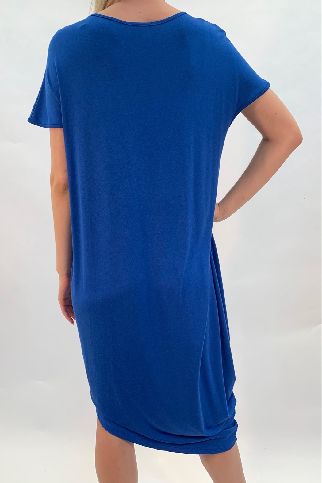 annabelle Blue Lounge Dress - Side Cropped Image