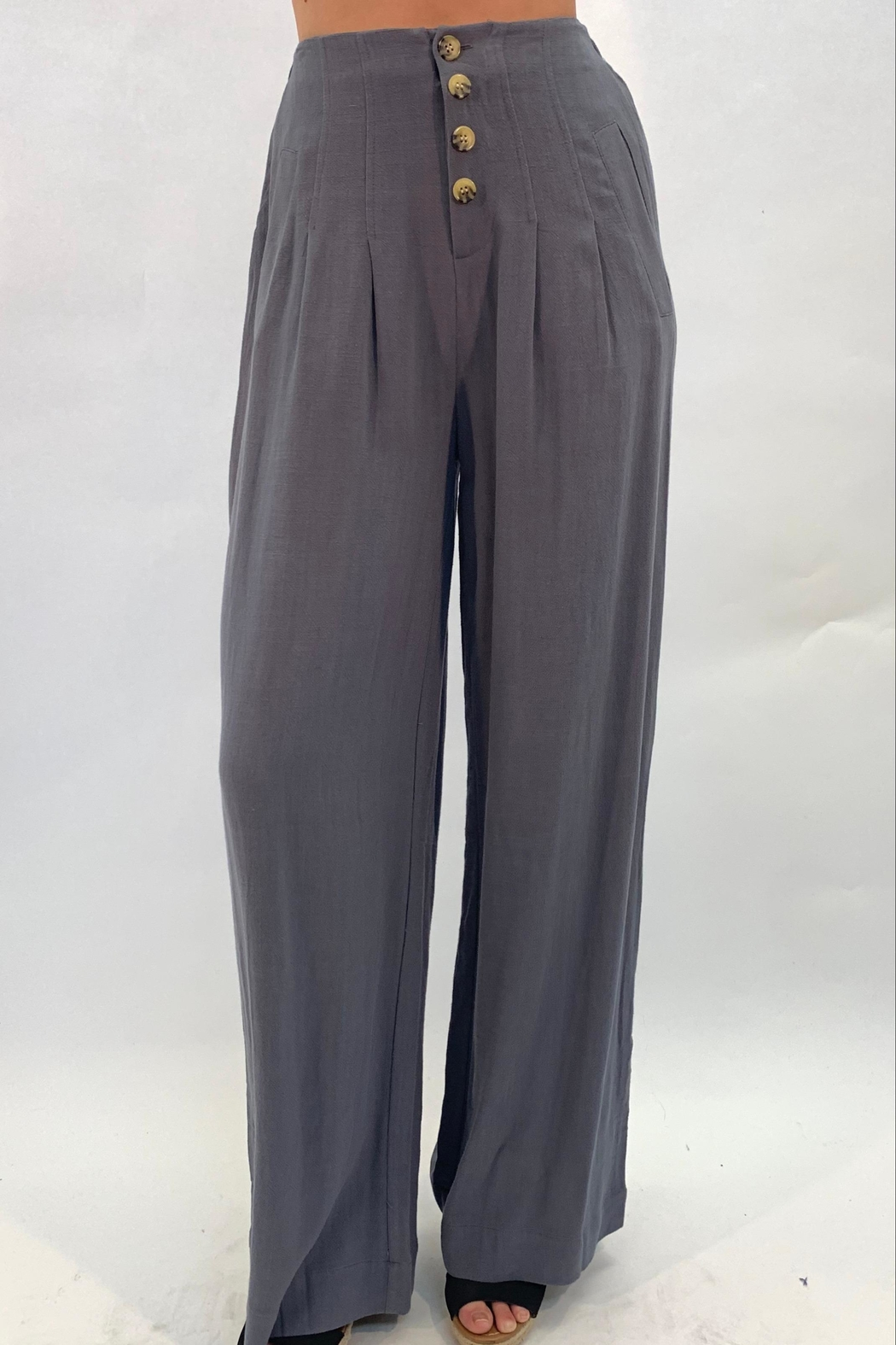 annabelle Button Flare Pants - Main Image
