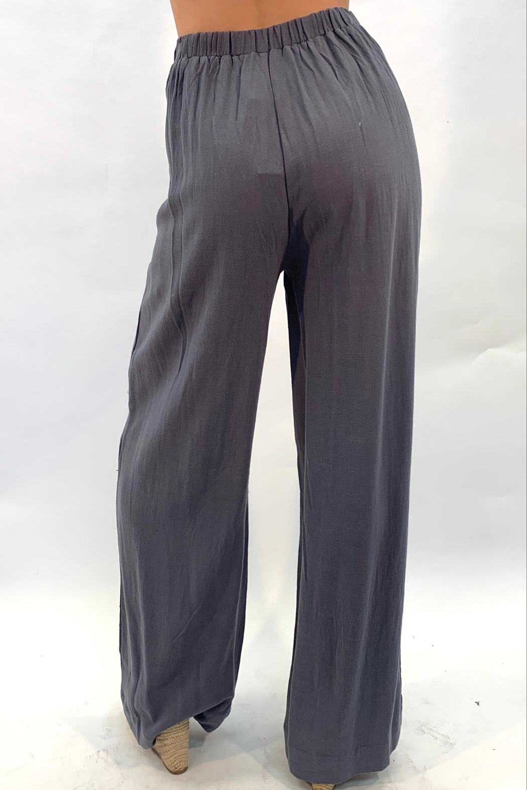 annabelle Button Flare Pants - Front Full Image