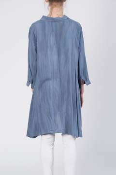 annabelle Button Front Tunic Top - Alternate List Image