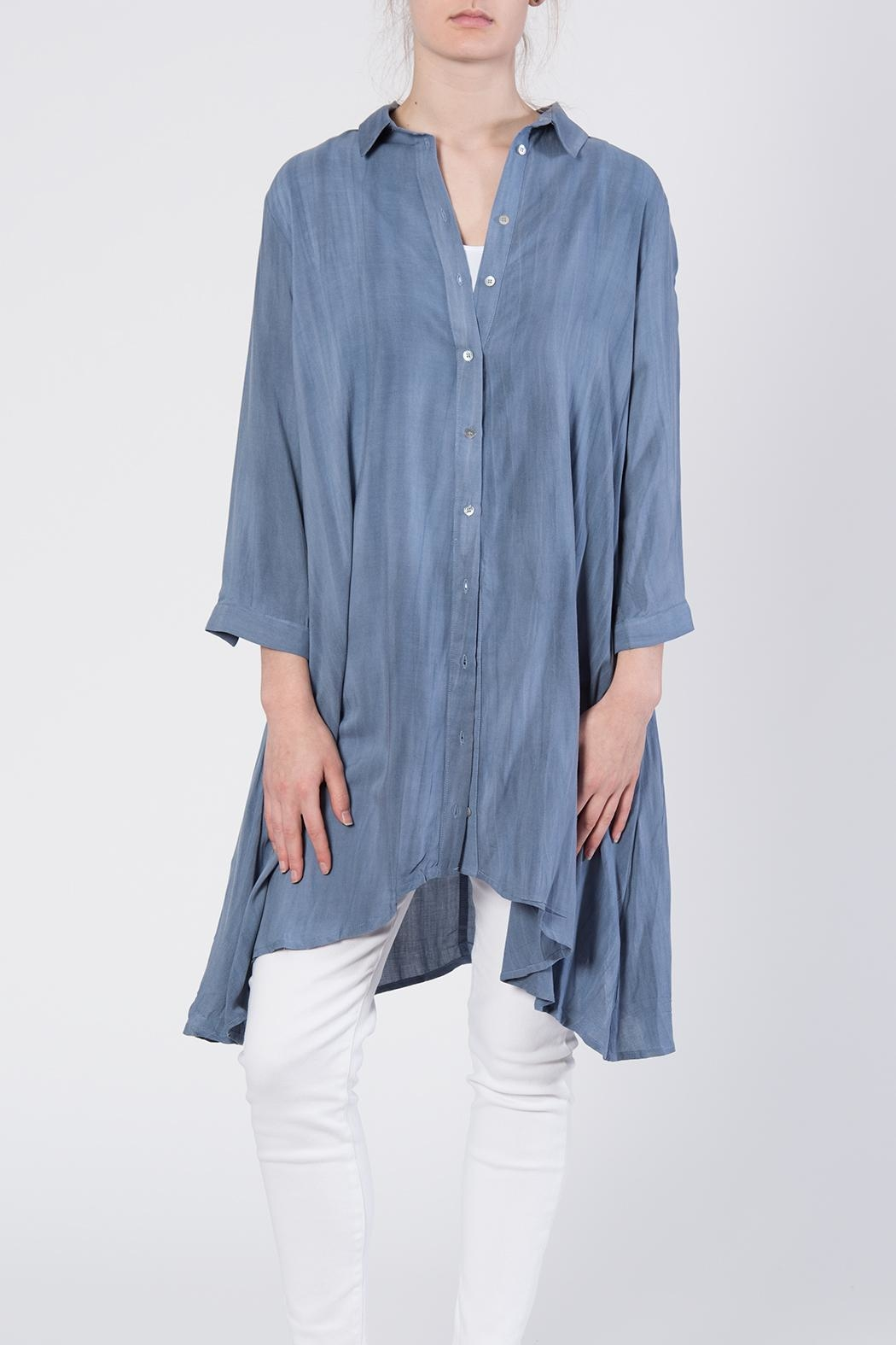 annabelle Button Front Tunic Top - Front Full Image