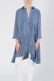 annabelle Button Front Tunic Top - Front full body
