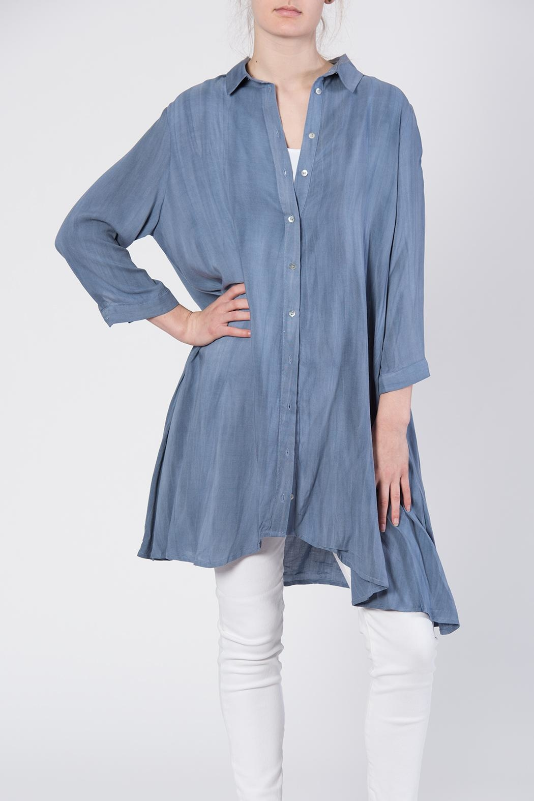 annabelle Button Front Tunic Top - Front Cropped Image
