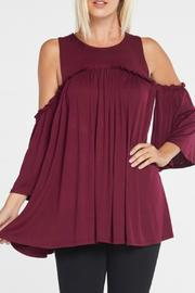annabelle Cold Shoulder Top - Product Mini Image