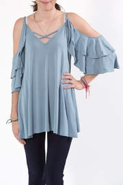annabelle Cold-Shoulder Top - Front full body