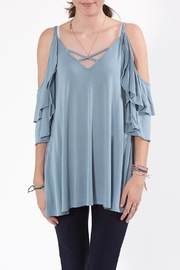 annabelle Cold-Shoulder Top - Product Mini Image