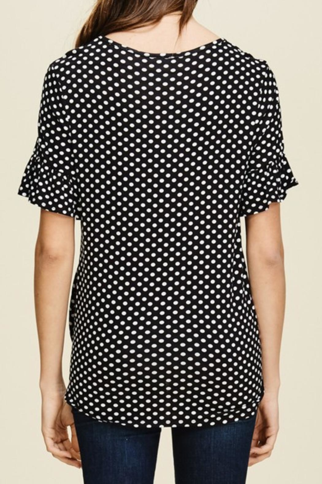 annabelle Dot Tie Shirt - Back Cropped Image