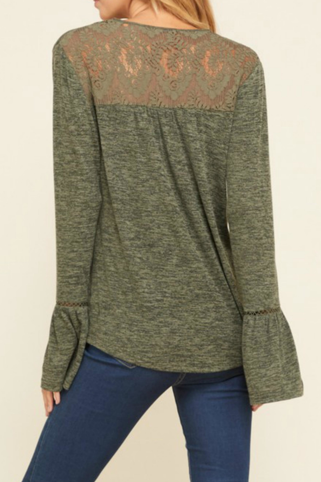 annabelle Embroidered Peasant Sweater - Back Cropped Image