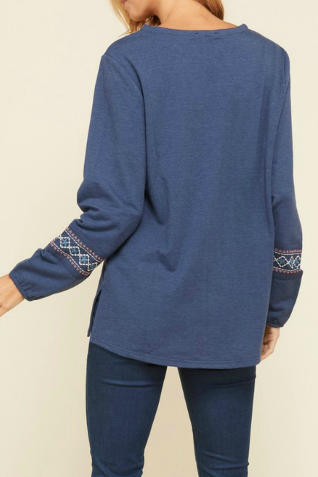 annabelle Embroidered Peasant Top - Front Full Image