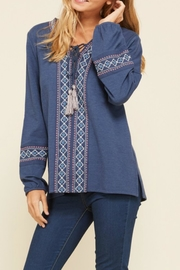annabelle Embroidered Peasant Top - Side cropped