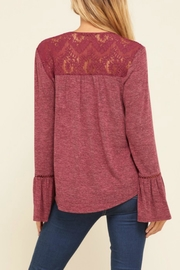annabelle Embroidered Peasant Top - Front full body