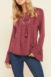 annabelle Embroidered Peasant Top - Product Mini Image