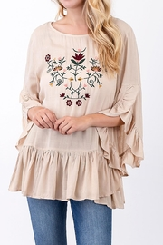 annabelle Embroidered Ruffle Top - Product Mini Image