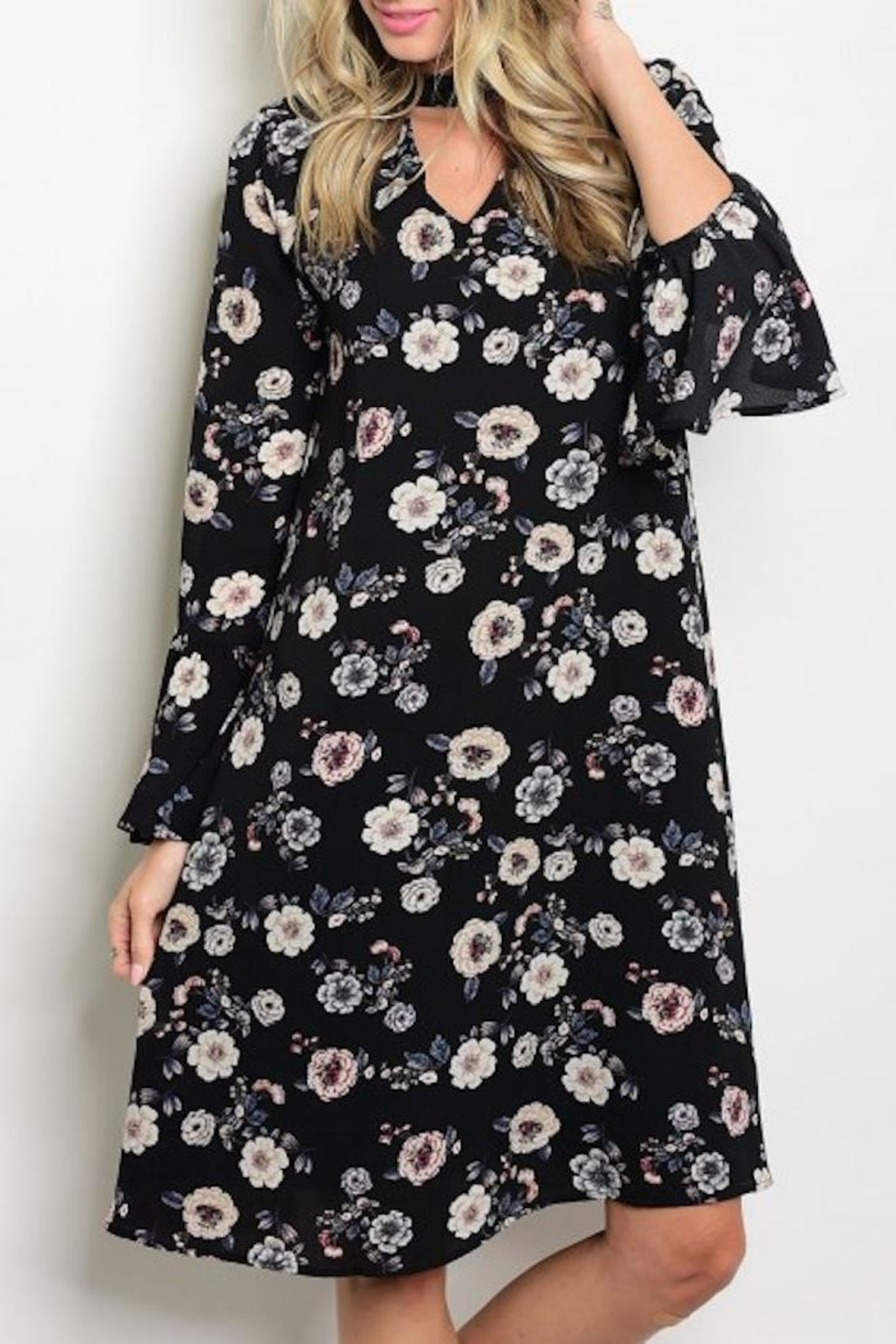 annabelle Floral Keyhole Dress - Main Image