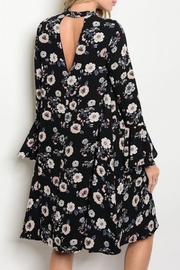 annabelle Floral Keyhole Dress - Front full body