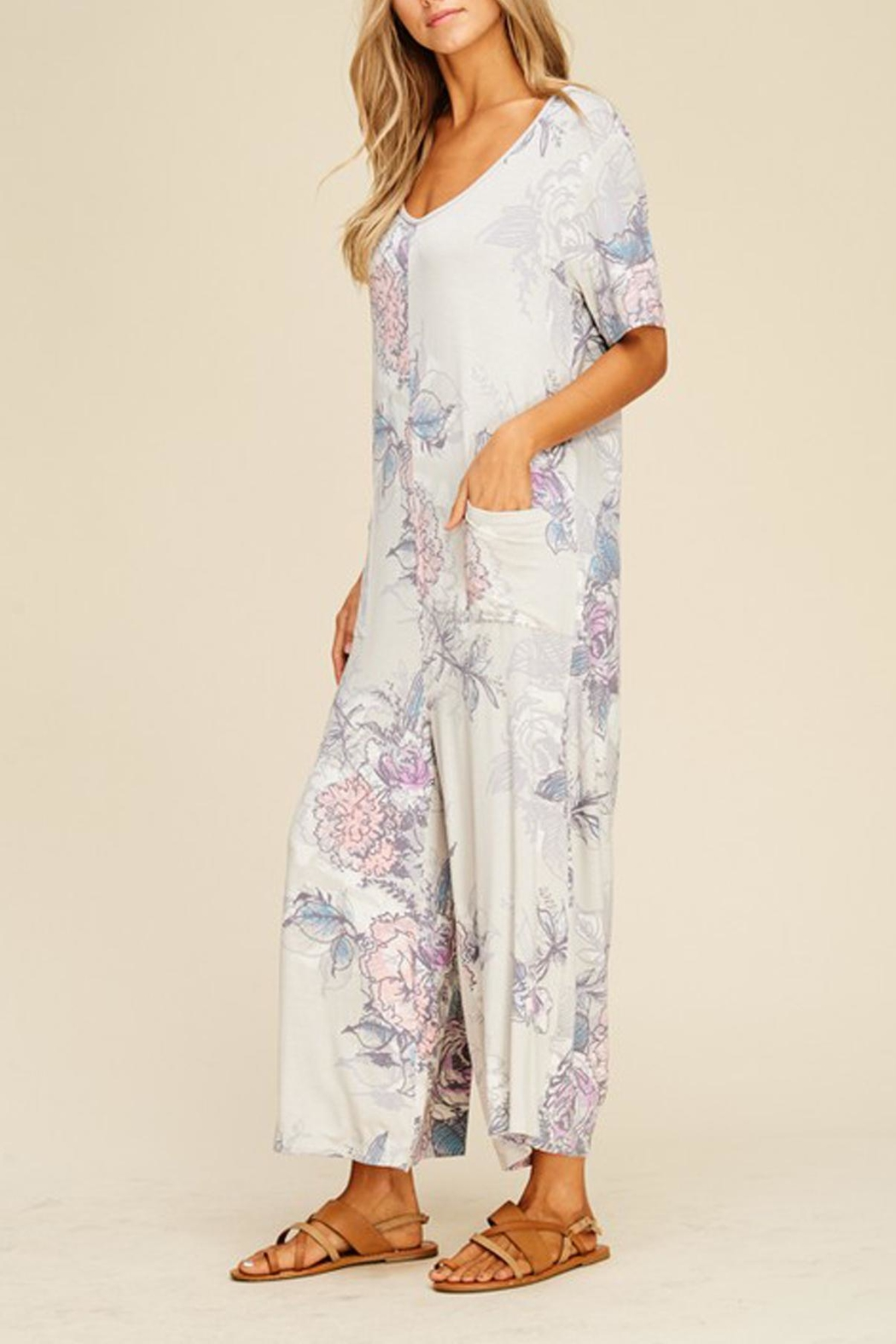 annabelle Floral Knit Jumpsuit - Front Full Image